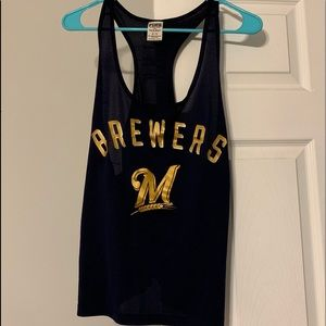 ⚾️PINK Brewers Jersey Tank